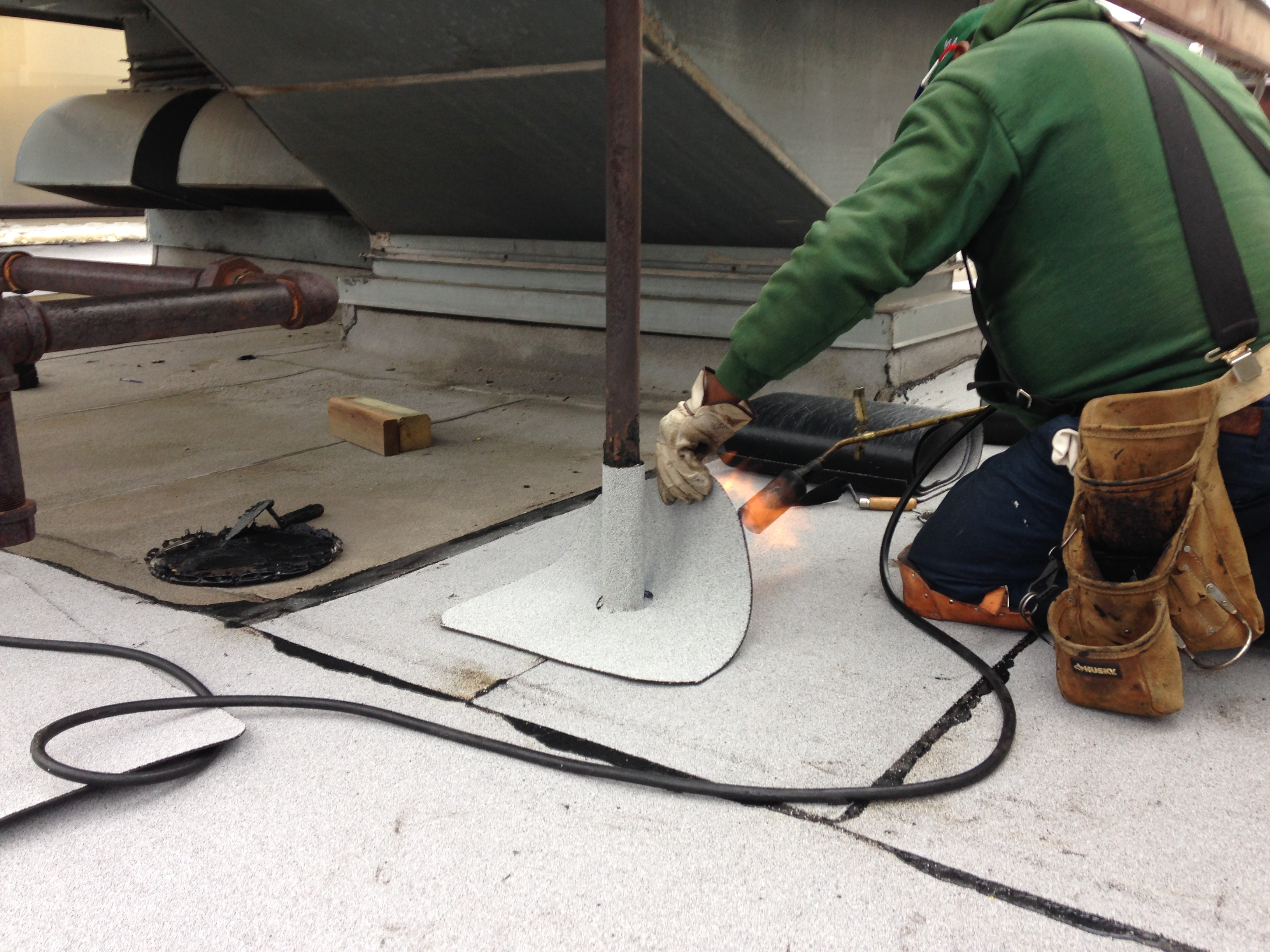 Flashing Repairs To Modified Bitumen Roof Solution One